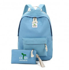 Ladies 2 Pce Back Pack (SKY BLUE) (OS)