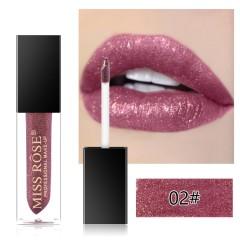 MISS ROSE Diamond Crystal Lip Gloss Tint High Shine Metallic Liquid (02) (FRH)