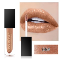 MISS ROSE Diamond Crystal Lip Gloss Tint High Shine Metallic Liquid (06) (FRH)