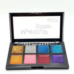 GLAZZI Eyeshadow Palette Makeup Glitter 8 Color (Exp: 04.2023) (FRH)