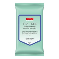 PUREDERM Tea Tree Make-Up Remover Cleansing Towelettes 1 Pack/30 Wipe (Exp: 09.2023) (MOS)s