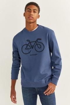 SPRINGFIELD Mens Sweatshirt  (BLUE) (S - M - L - XL - XXL)
