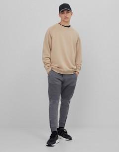BERSHKA Mens Pants (GRAY) (XS - S - M - L - XL)