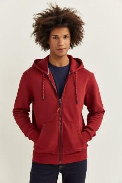 SPRINGFIELD Mens Hoodi Zipper (RED) (S - M - L - XL - XXL)