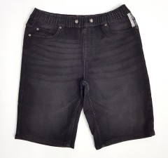 LIVERGY CASUAL FIT Mens Denim Jeans Short (BLACK ) (30)