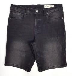 LIVERGY CASUAL FIT Mens Denim Jeans Short (DARK GRAY) (36 - 42)