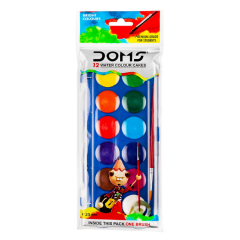 DOMS Water Colour Cake 12 Shades (23 mm) (FRH)