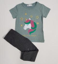 M AND S Girls 2 Pcs Pyjama Set (GRAY) (2 to 8 Years)