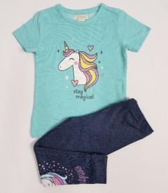 MONSOON Girls 2 Pcs Pyjama Set (BLUE-GRAY) (2 to 8 Years)