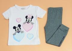 MOOSON Girls 2 Pcs Pyjama Set (WHITE - DARK GRAY) (2 to 8 Years)