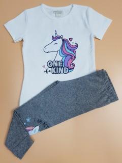 MONSOON Girls 2 Pcs Pyjama Set (LIGHT BLUE - GRAY) ( 2 to 8 Years)