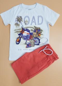 MAYORAL Boys 2 Pcs Pyjama Set (WHITE - RED) (5 to 18 Years)