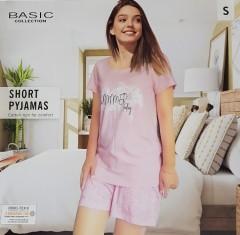 BASIC COLLECTION Ladies 2 Pcs Shorty Set (LIGHT PINK) (S - M - L - XL)