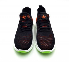 Mens Shoes (BLACK - RED) (40 to 45)