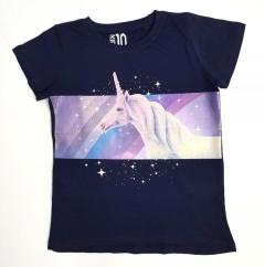KIDS Girls T-shirt (NAVY) (3 to 10 Years)