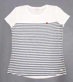 TOM TAILOR Ladies T-Shirt (WHITE - VAVY) (XS - S - M - L)