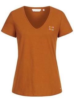 TOM TAILOR Ladies T-Shirt (BROWN) (XS - S - M - L)
