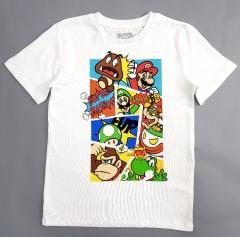 SUPER MARIO Boys T_Shirt (WHITE) (5 to 8 Years)