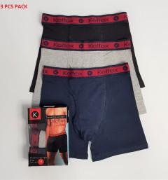 KELTEX 3 Pcs Mens Combed Cotton Stretch Boxer Pack (Random Color) (S - M - L - XL - XXL)