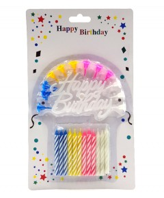 GENERIC 12 Pcs Pack Birthday Candle Set (AS PHOTO) (MOS)