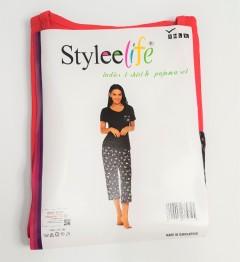 STYLEE LIFE Ladies 2 Pcs Pyjama Set (RED - BLACK) (S - M - L - XL)