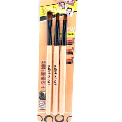 MEI ZI CAI 3 Pcs Make Up Brush Set (CREAM) (FRH)