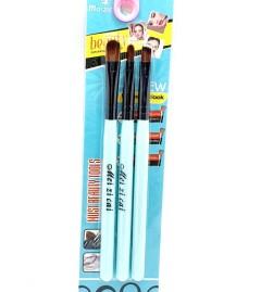 MEI ZI CAI 3 Pcs Make Up Brush Set (BLUE) (FRH)