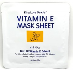 KING LOVE BEAUTY Vitamin E Sheet Mask 30G (EXP: 19.11.2023) (FRH)
