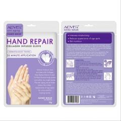ALIVER Anti Aging Hand Mask Collagen Infused Gloves 18G (EXP: 03.06.2023) (FRH)