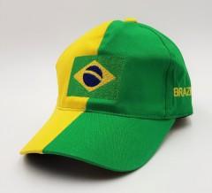 BRAZIL Mens Cap (GREEN - YELLOW) (FREE SIZE)