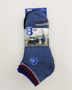 R-MARTIN Mens Ankle Socks 8 Pcs Pack (RANDOM COLOR) (FREE SIZE)