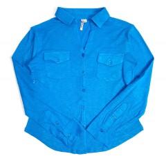 KATE PARK Ladies Shirt ( BLUE ) ( S - M - L - XL )