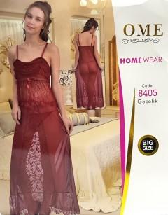 OME LADIES Night Wear (MAROON) (FREE SIZE) (FRH)