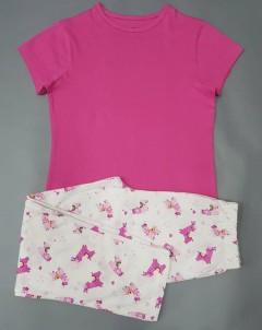 GEORGE Girls 2 Pcs Pyjama Set (PINK-WHITE) (7 to 11 Years)