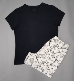 GEORGE Girls 2 Pcs Shorty Set (BLACK-WHITE) (7 to 11 Years)