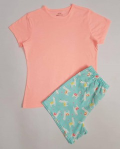 GEORGE Girls 2 Pcs Shorty Set (PINK-BLUE) (7 to 11 Years)