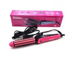 KEMEI KM-6855 Multifunction Hair Stick Curler Rollers And Straightener (FRH)