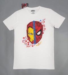 SPIDERMAN Mens T-Shirt (WHITE) (S - M - L - XL)