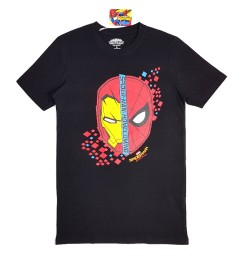 SPIDERMAN Mens T-Shirt (BLACK) (S - M - L - XL)