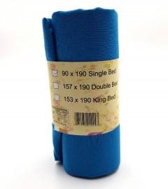 SINGLE BED SHEET (90X190 CM) (BLUE) (FRH)
