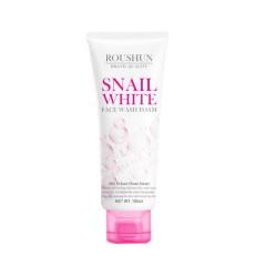 ROUSHUN Snail White Face Wash Foam Facial Cleanser whitening skin Moisturizing Firming oil control 100ML (EXP: 09.01.2026) (MOS)