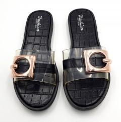 FASHION Ladies Slippers ( BLACK ) (37 to 42)