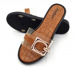 FASHION Ladies Slippers ( BROWN ) (37 to 41)