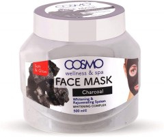 COSMO Charcoal Face Mask 500ML (EXP: 21.12.2022) (MOS)