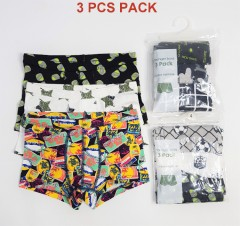 3 Pcs Boys Boxer Shorts Pack ( Random Color) (4 to 12 Years)