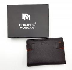 PHILIPPE MORGAN Mens Wallet (BROWN-ORANGE) (OS)