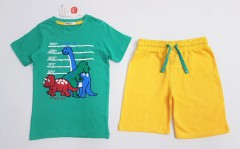 COOL CLUB Boys 2 Pcs Shorty Set (GREEN - YELLOW) (9 Months to 5 Years)