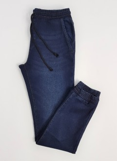 LIVERGY Mens Denim Jogger Pants (DARK BLUE) (46 to 54 EUR)
