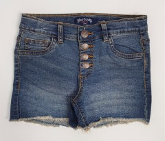 BLUE CANDY Girls Jeans Short (DARK BLUE) (8 to 14 Years)
