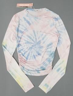 TALLY WEIJL Ladies Shirt (LIGHT PINK - BLUE) (XS - S - M - L)